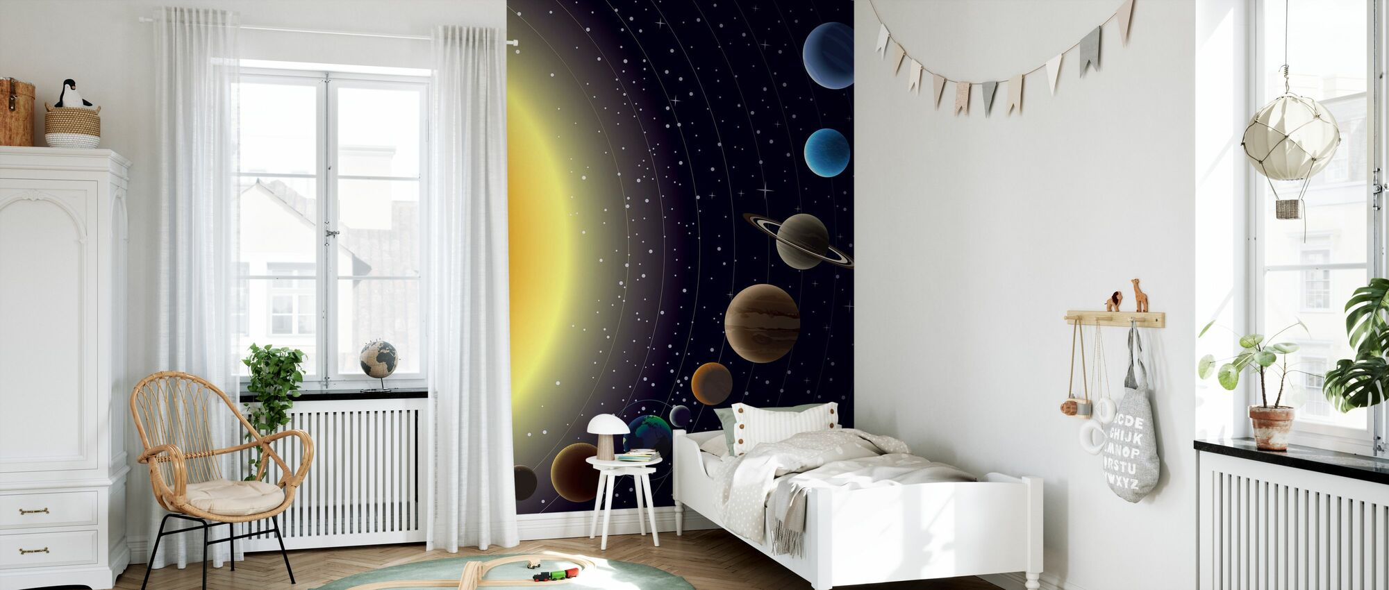 Planets - Wallpaper - Kids Room