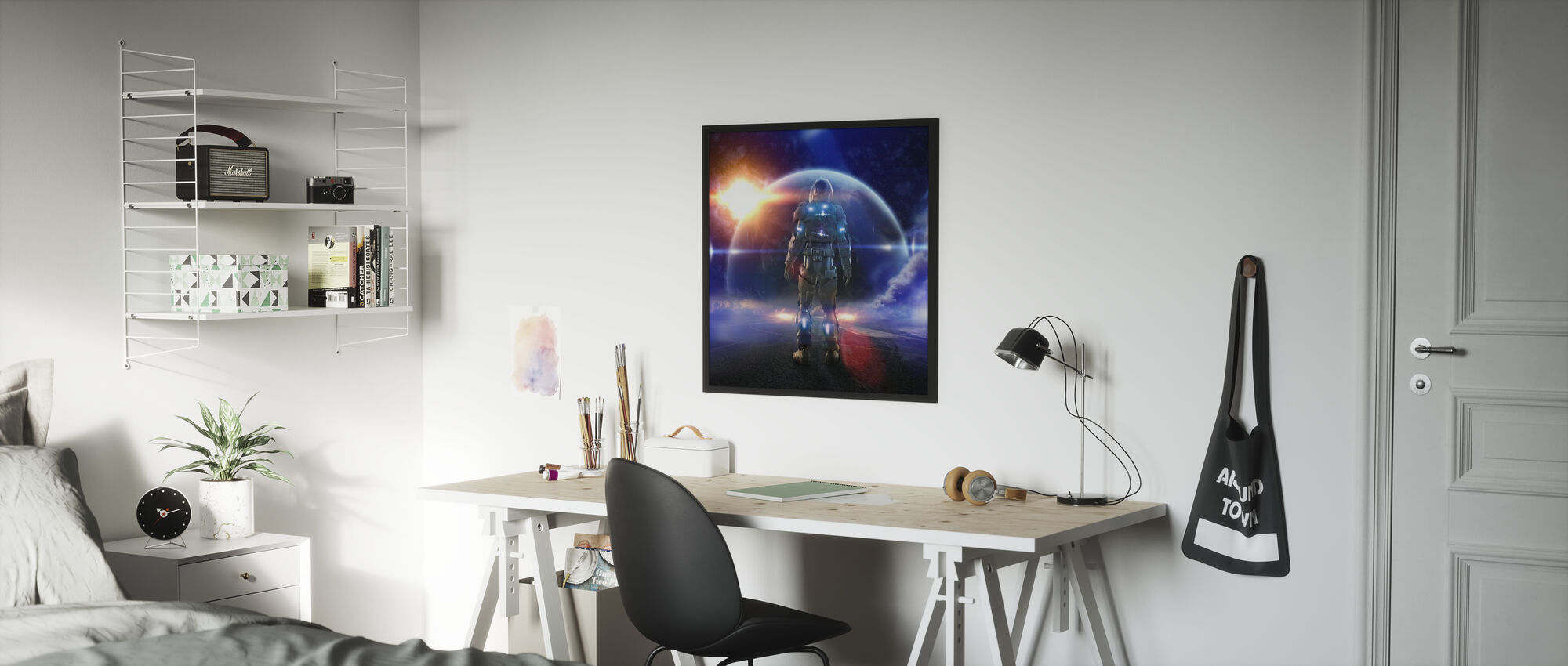 Space Knight - Framed print - Kids Room