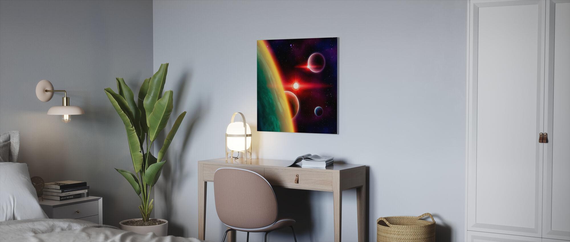 Galaksien väliset tilat - Canvastaulu - Toimisto