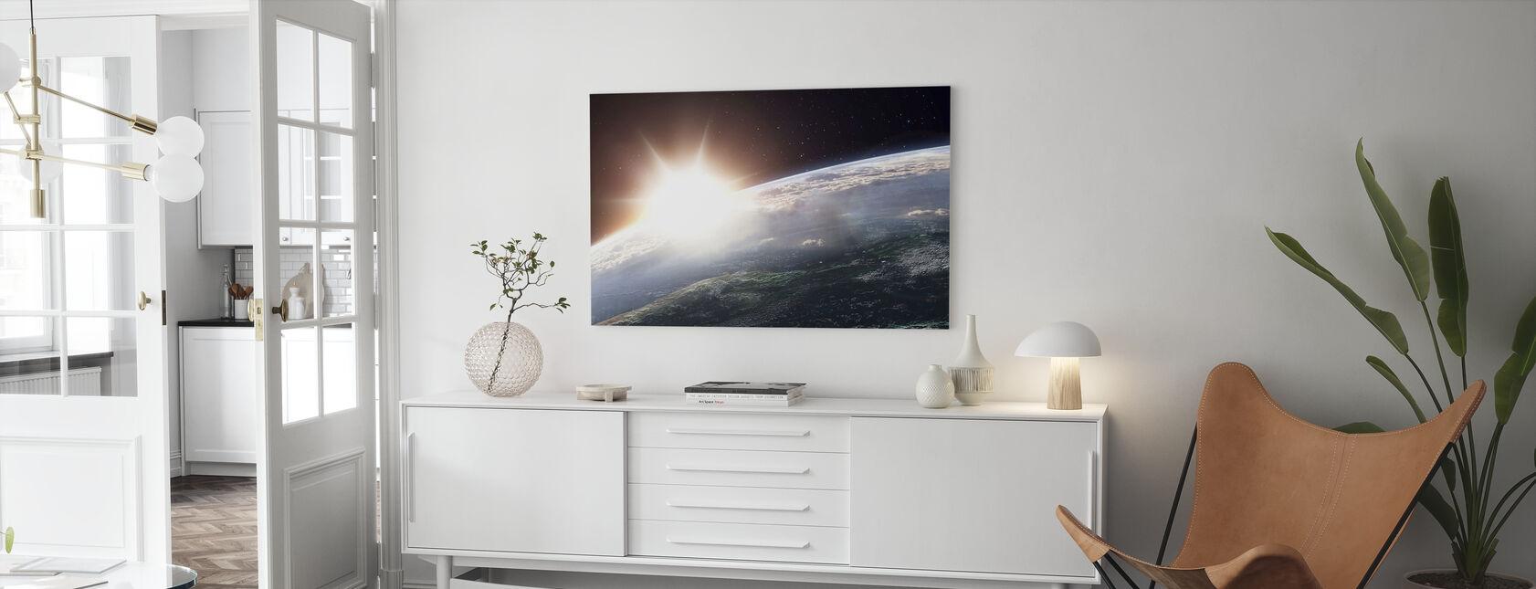 Sun over Earth - Canvas print - Living Room