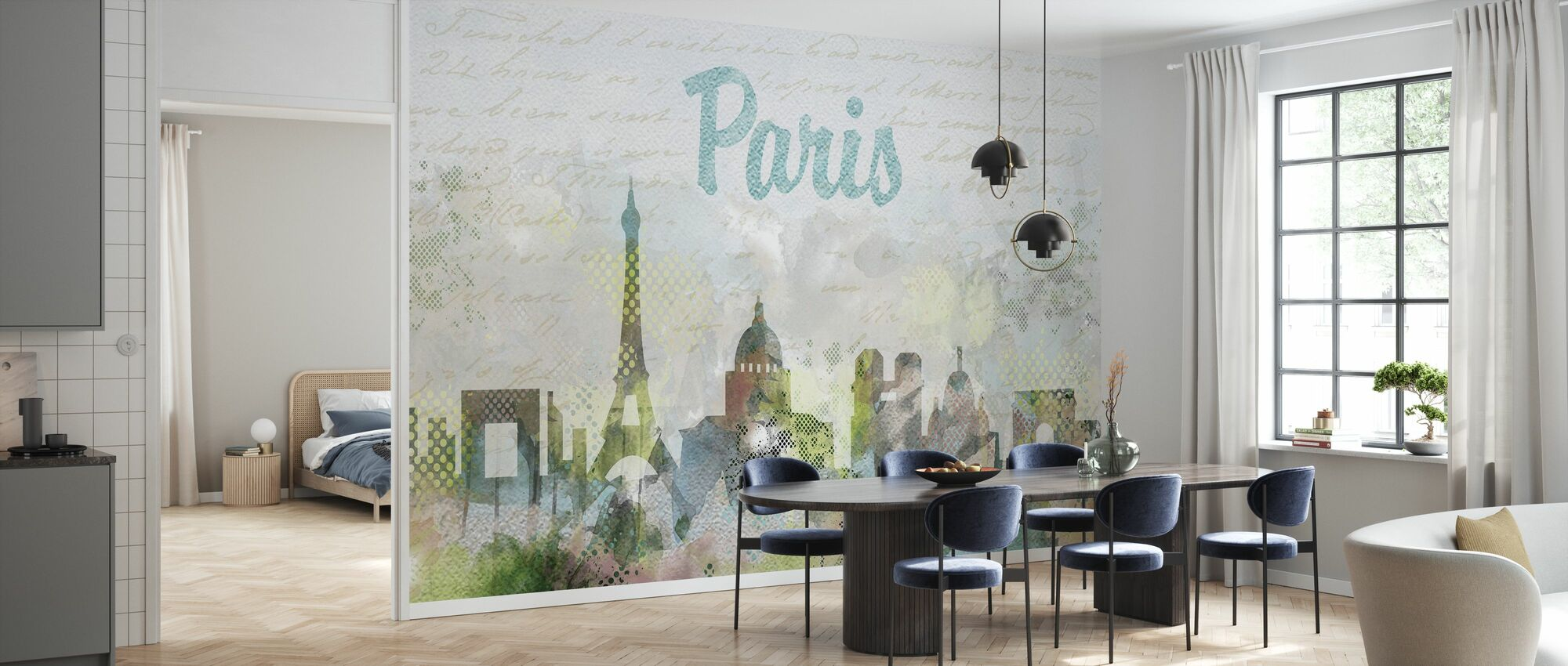 Watercolor Paris - Wallpaper - Kitchen