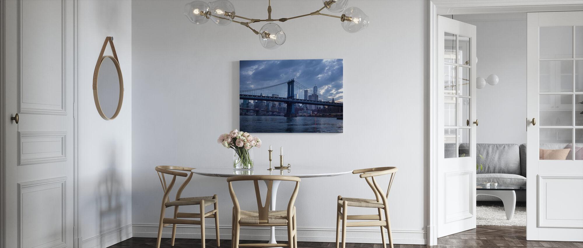 Brooklyn Bridge en Manhattan - Canvastaulu - Keittiö