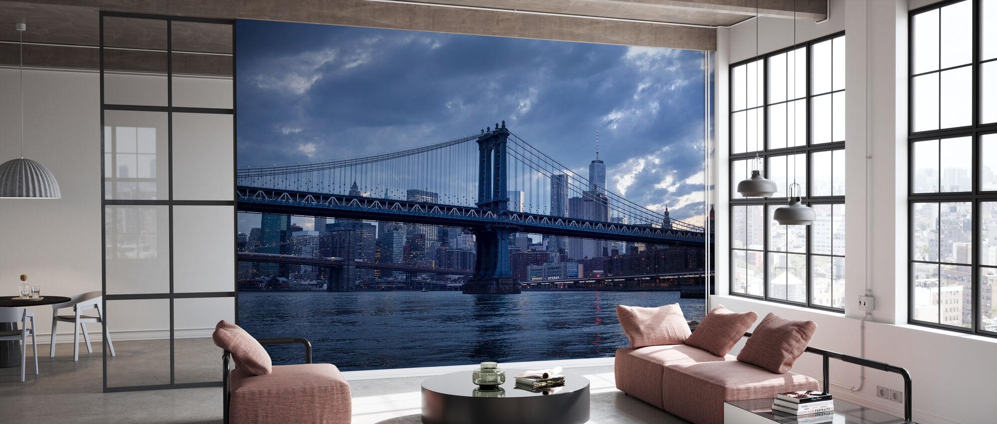 Brooklyn Bridge og Manhattan Bridge - Tapet - Kontor