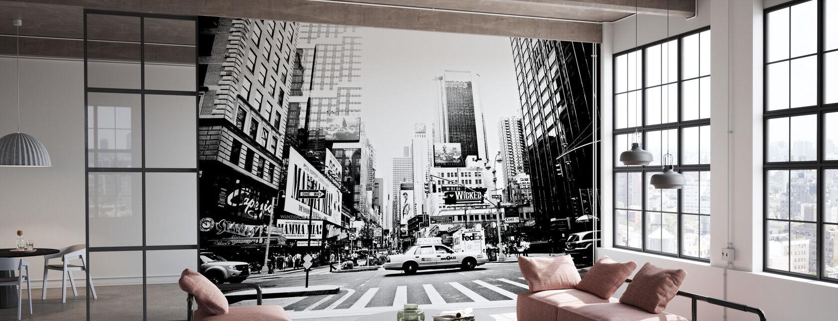 Drukke Times Square, New York - Behang - Kantoor
