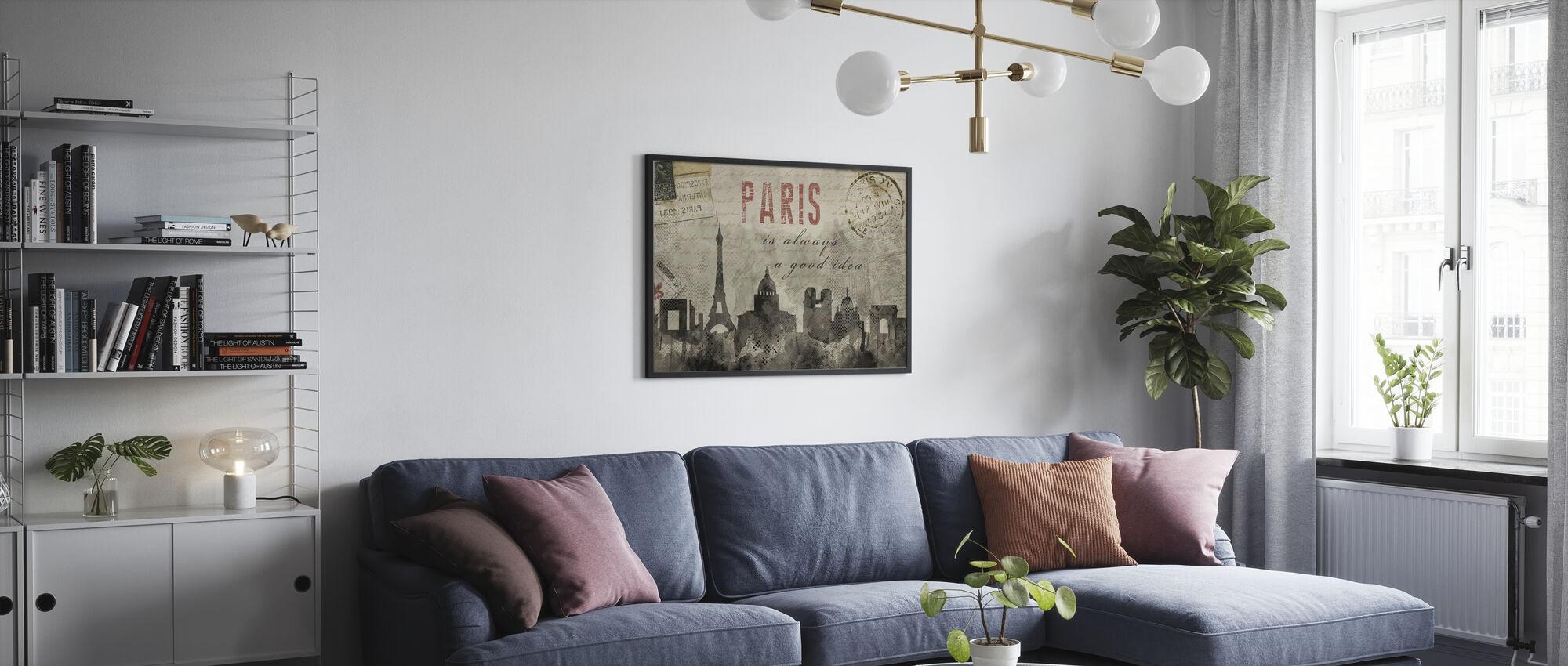 Watercolor Paris - Framed print - Living Room