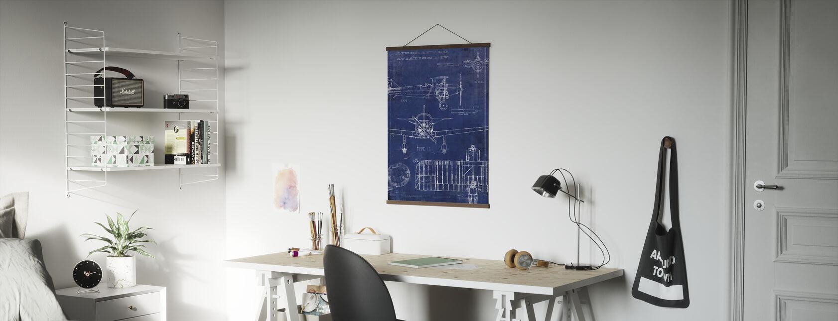 Flugzeug-Entwurf - Poster - Büro