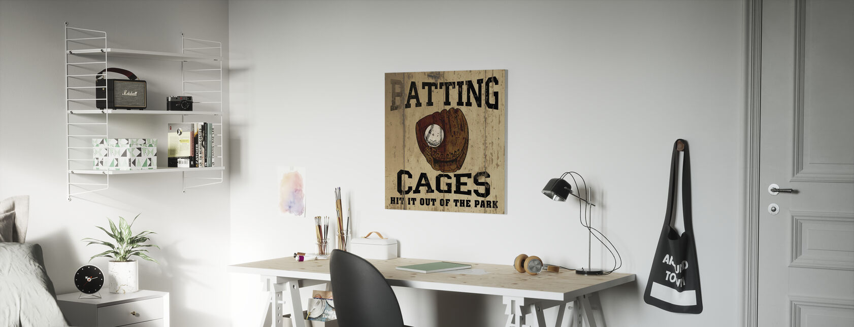 Batting kooien - Canvas print - Kinderkamer
