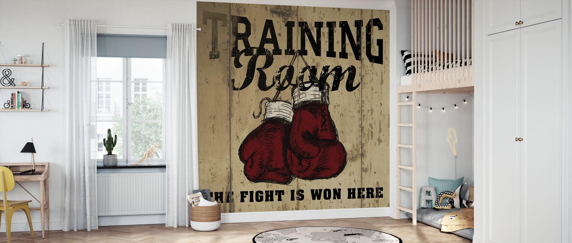 Trainingsruimte - Behang - Kinderkamer