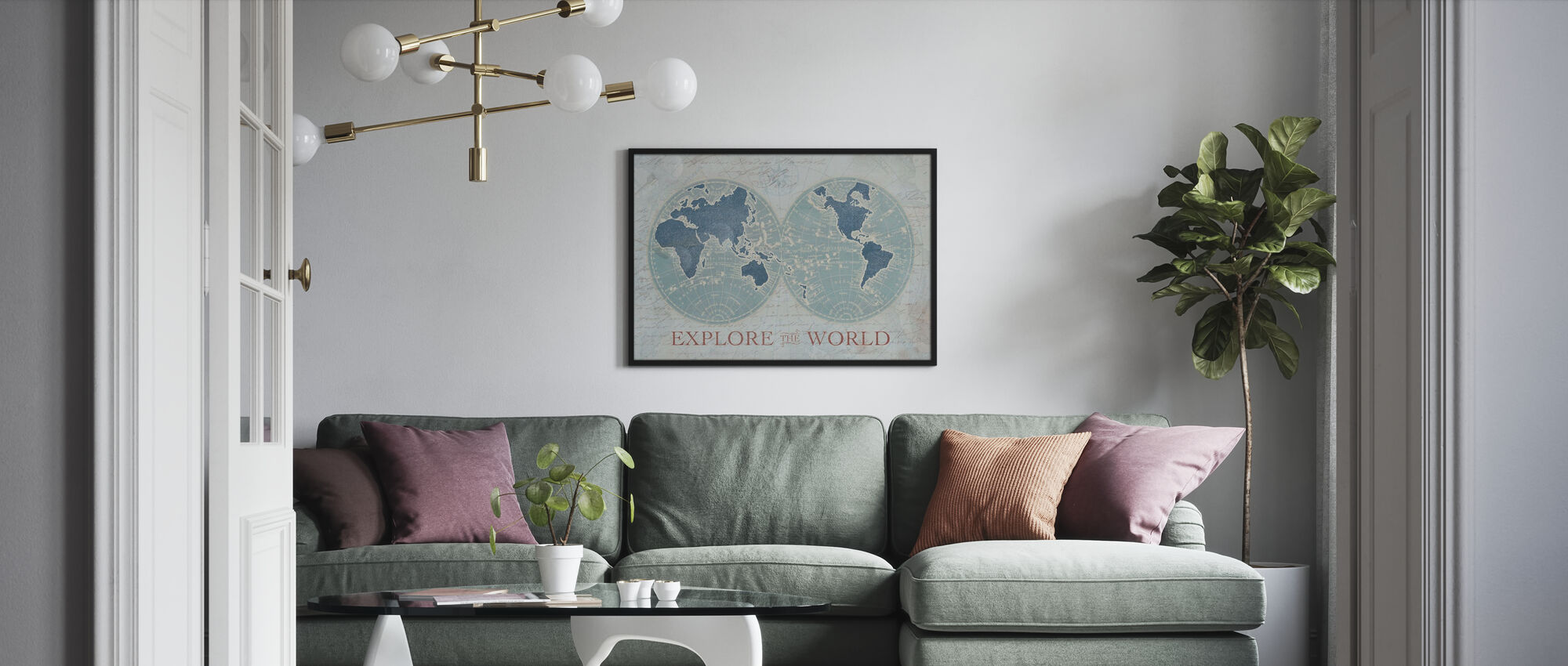 Explore the World 2 - Poster - Living Room