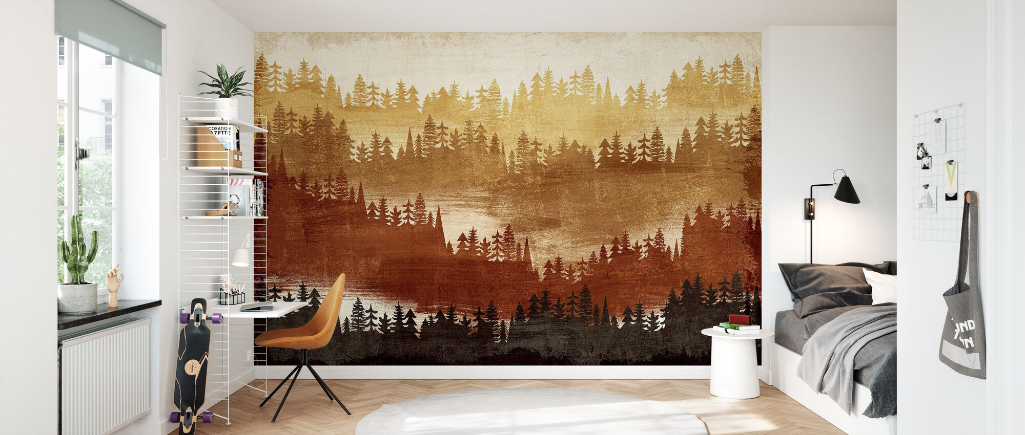 Mountainscape Spice - Wallpaper - Kids Room