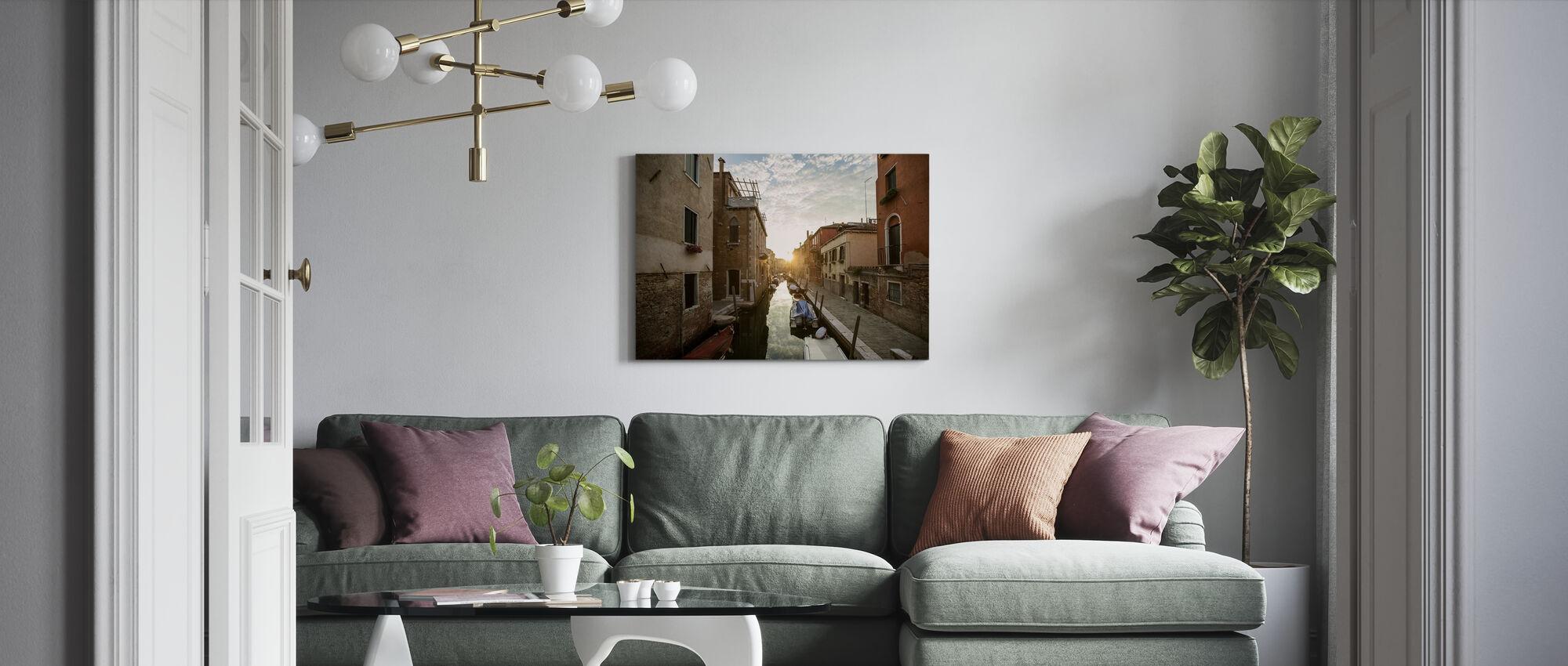 Gondola in Venice - Canvas print - Living Room