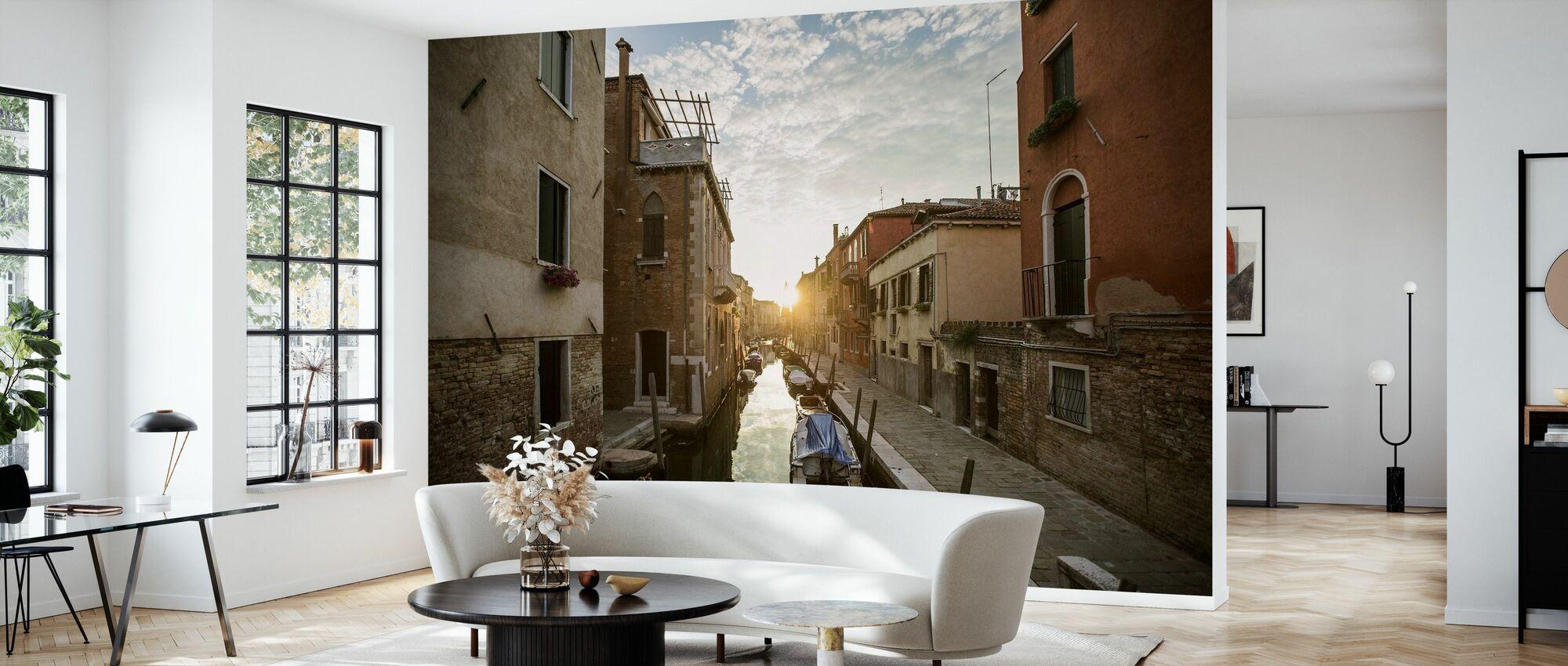 Gondel in Venedig - Tapete - Wohnzimmer