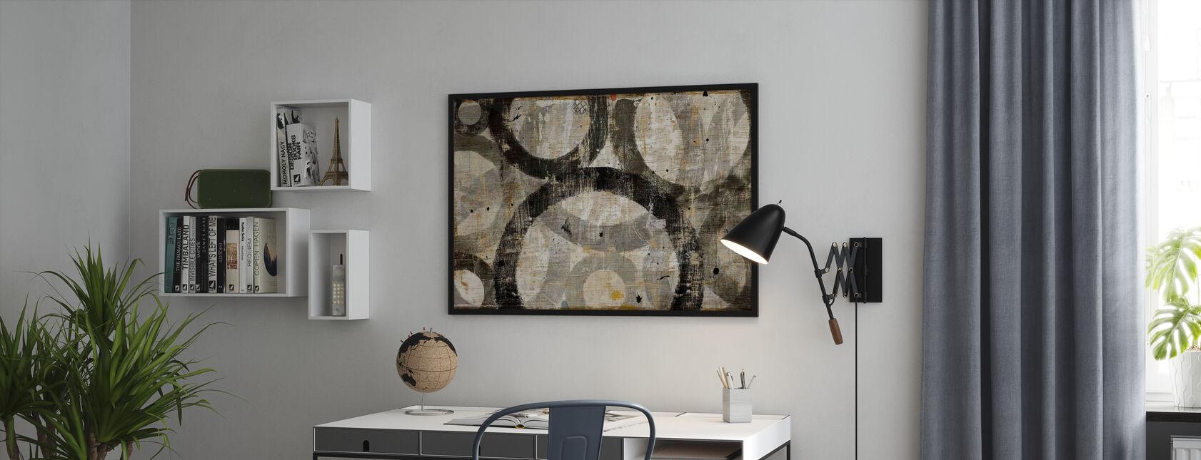 Industriella cirklar - Inramad tavla - Kontor