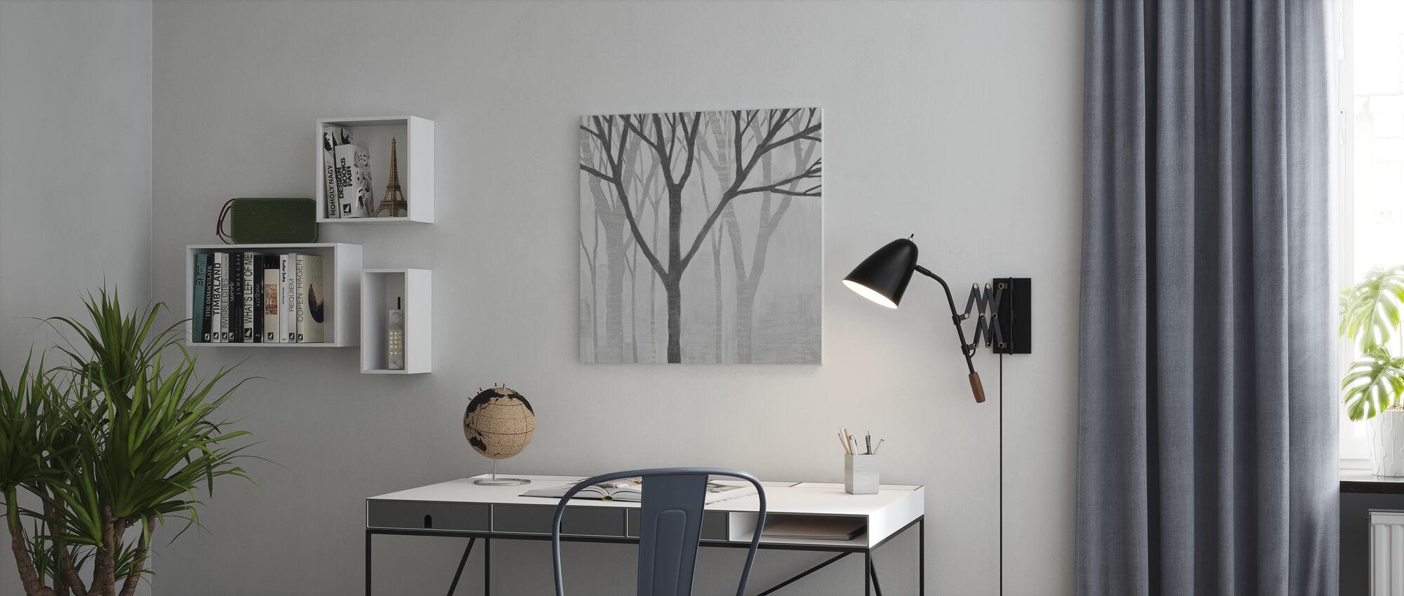 Spring Trees Greystone II - Canvas print - Office