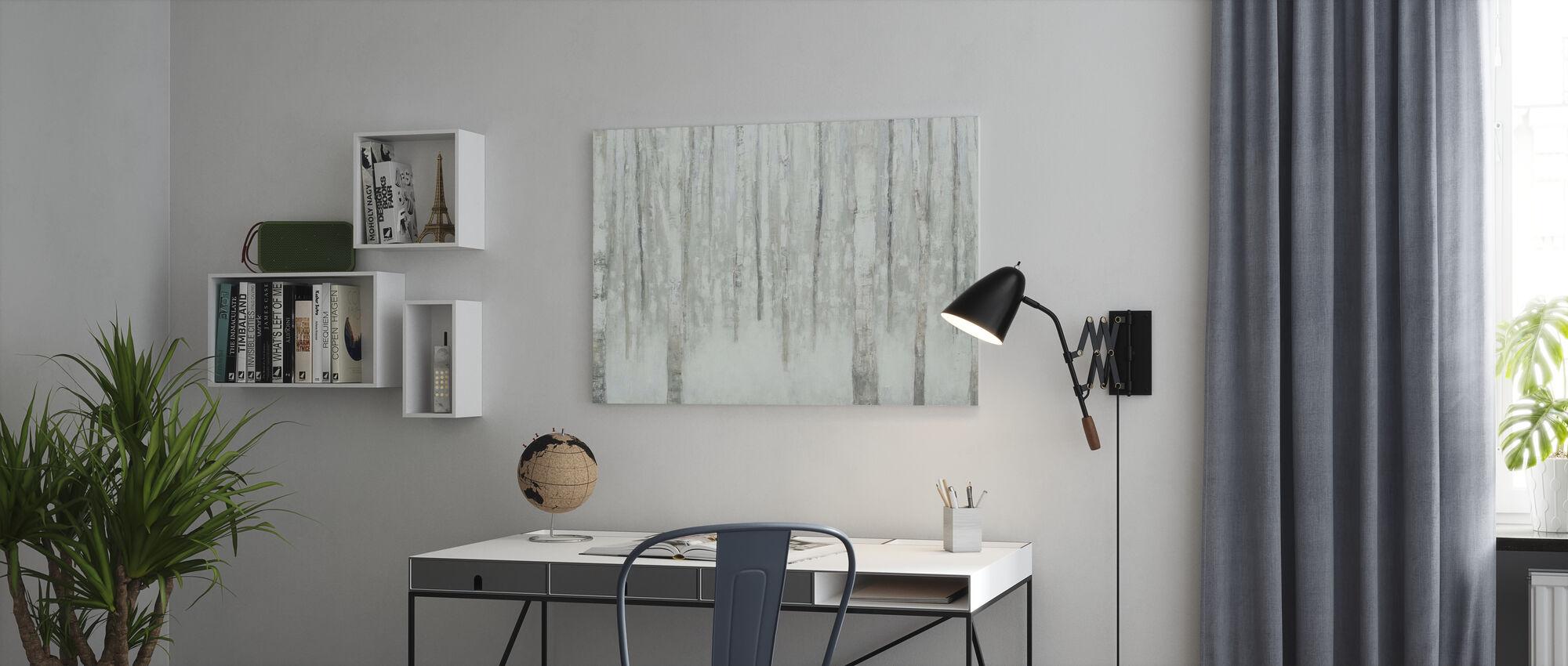 Birches in Winter - Canvas print - Office