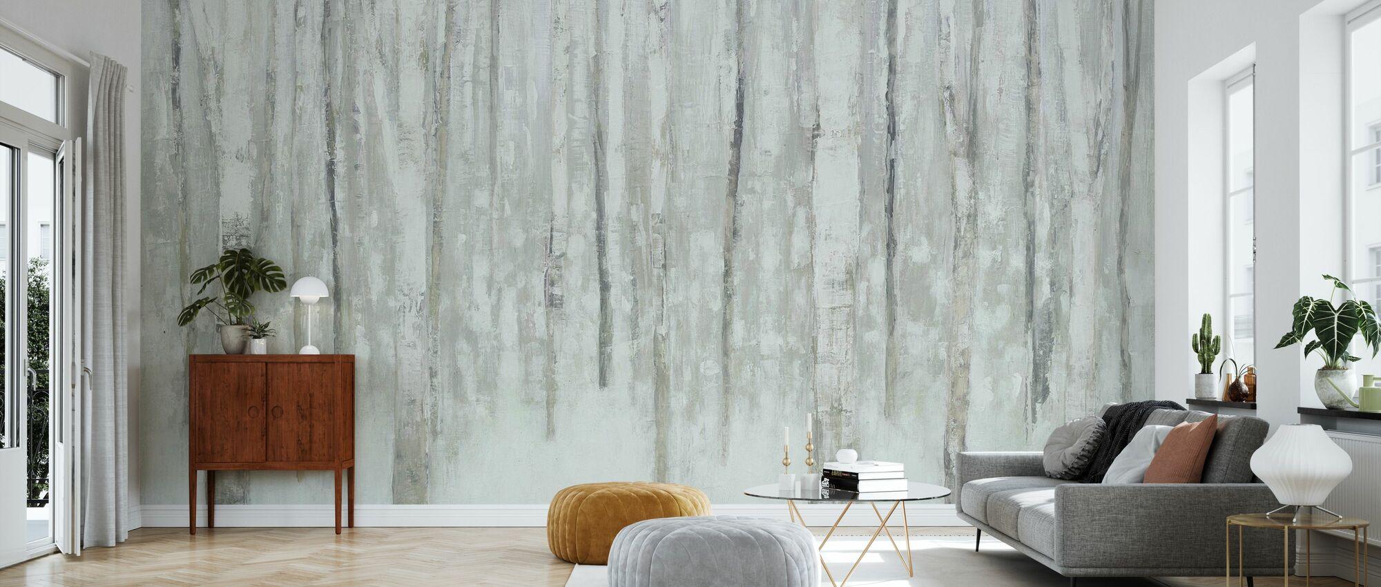 Birches en invierno - Papel pintado - Salón