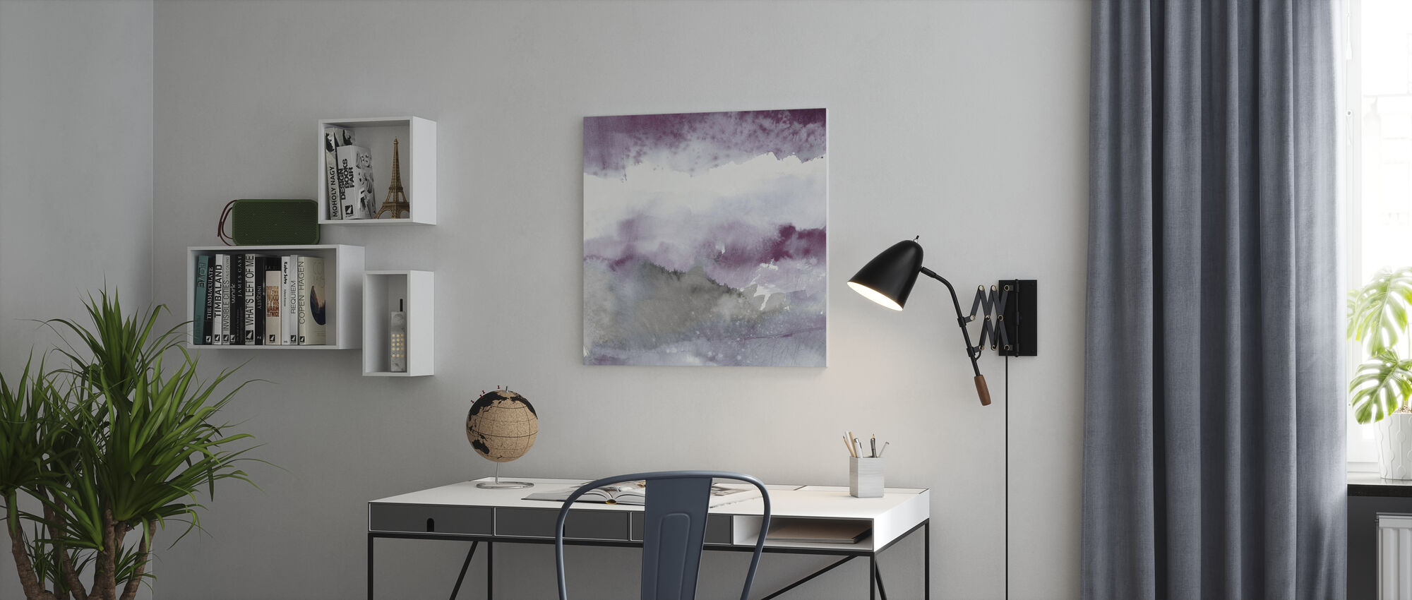 Midnight at the Lake I - Canvas print - Office