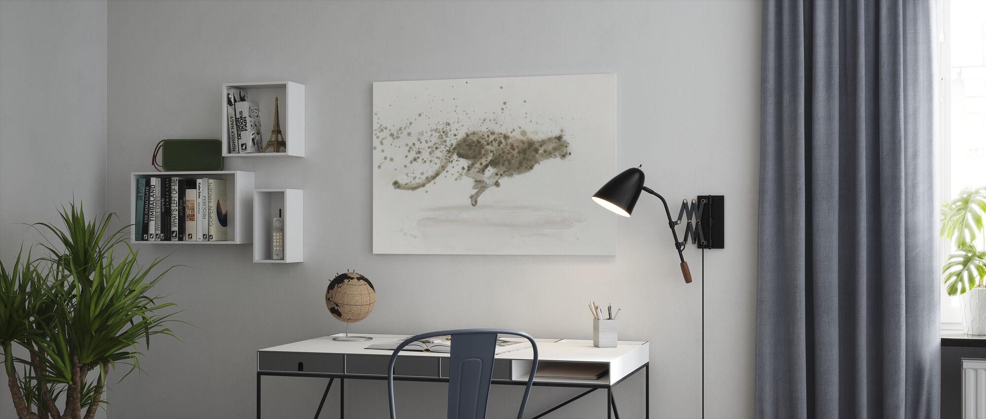 Jachtluipaard - Canvas print - Kantoor