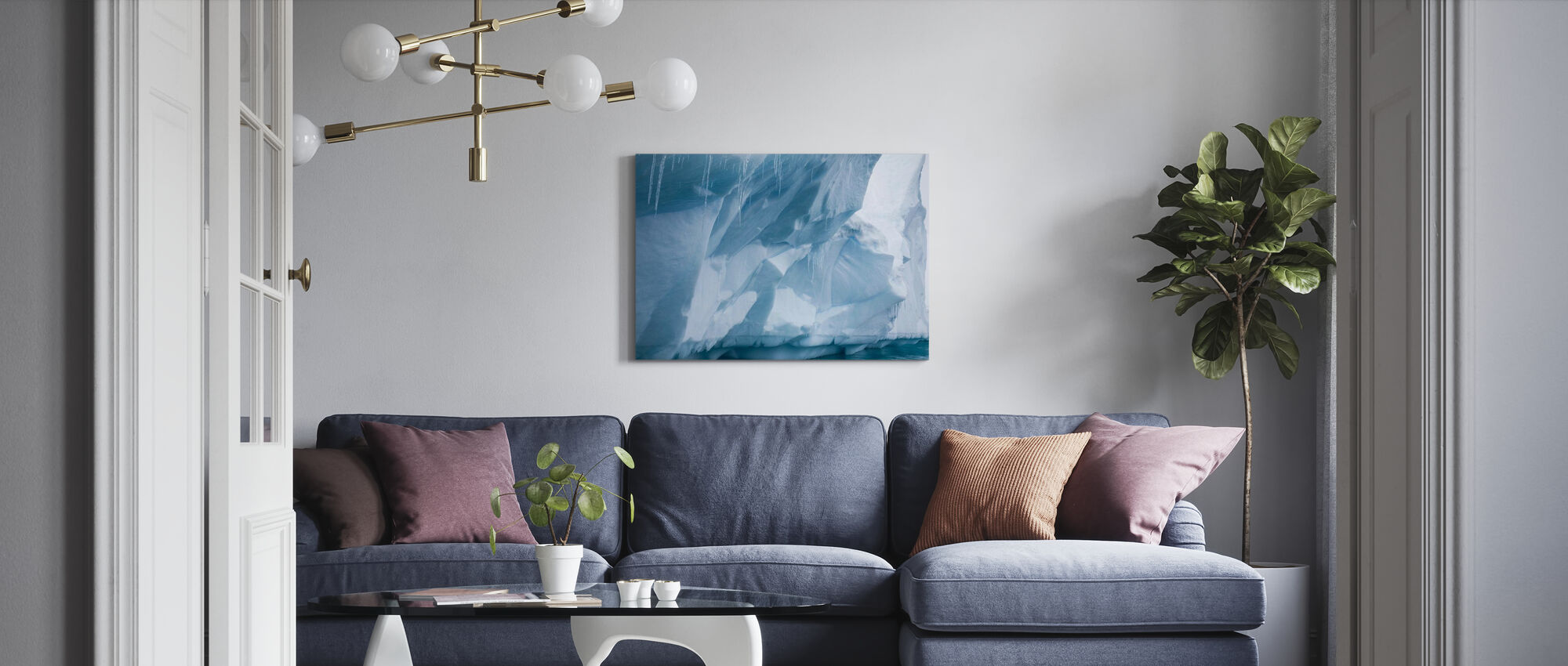 Icicle in Antarctica - Canvas print - Living Room