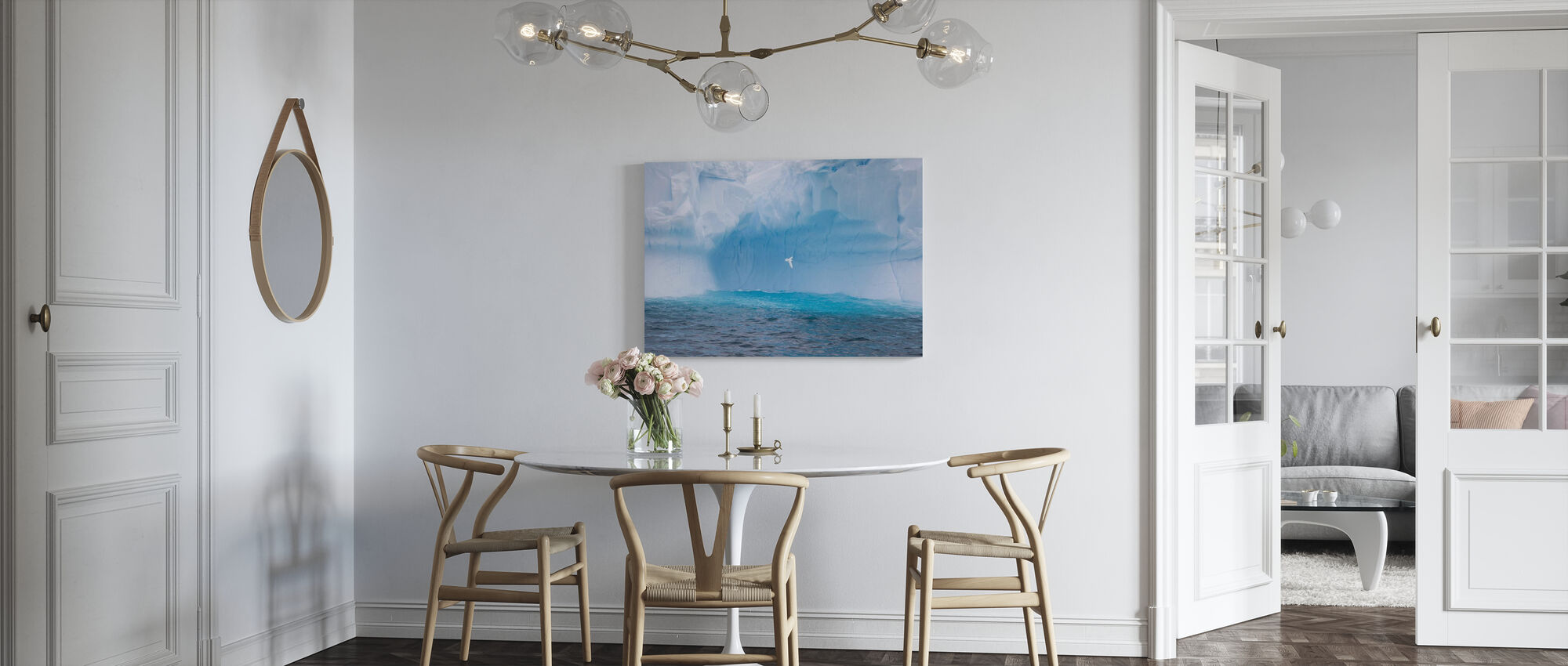 Glacier in Antarctica - Canvas print - Kitchen