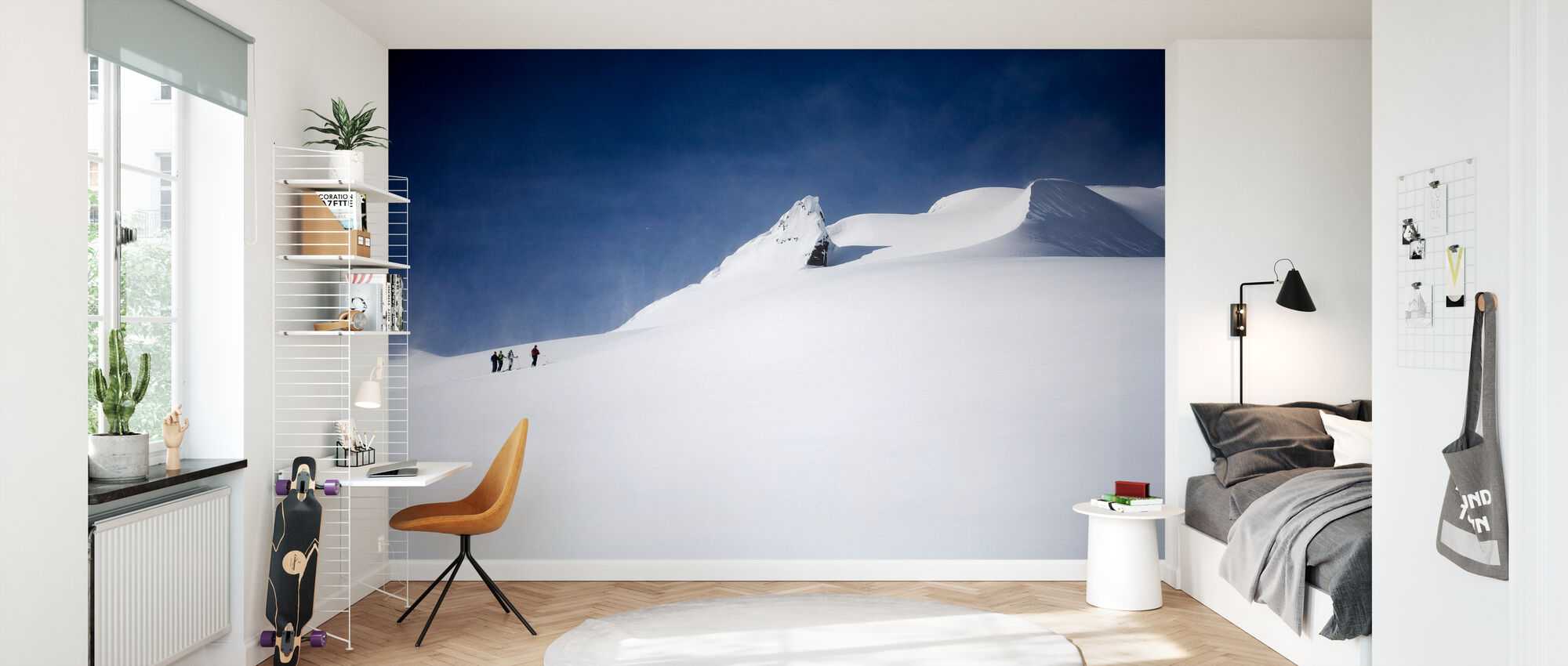 Skiërs in Canada - Behang - Kinderkamer