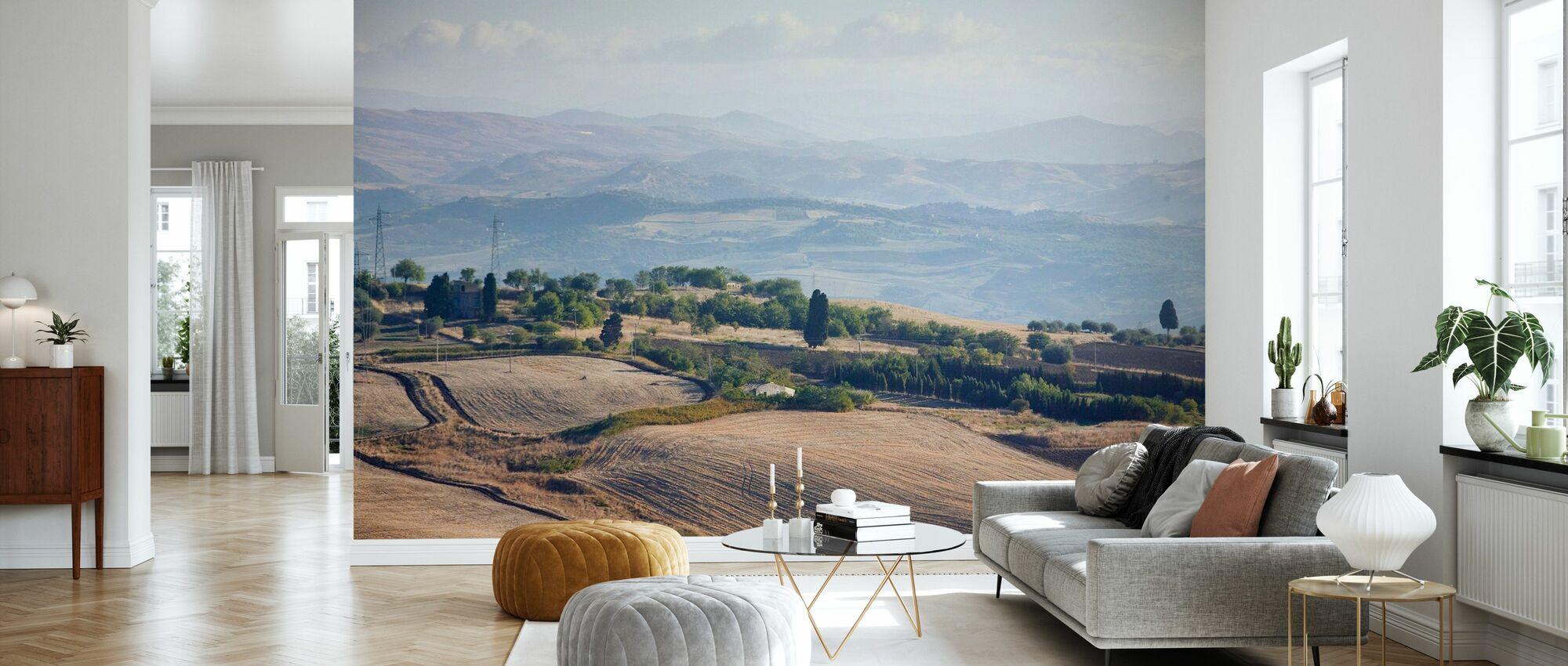 Fields of Sicily, Italy - Wallpaper - Living Room