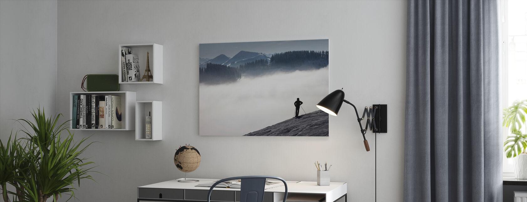 Österreichische Alpen - Leinwandbild - Büro