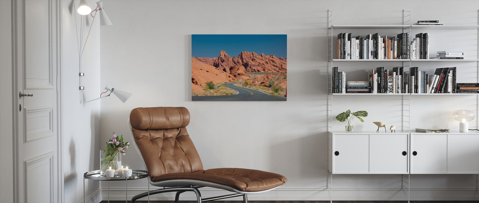 Valley of Fire in Nevada, USA - Canvas print - Living Room
