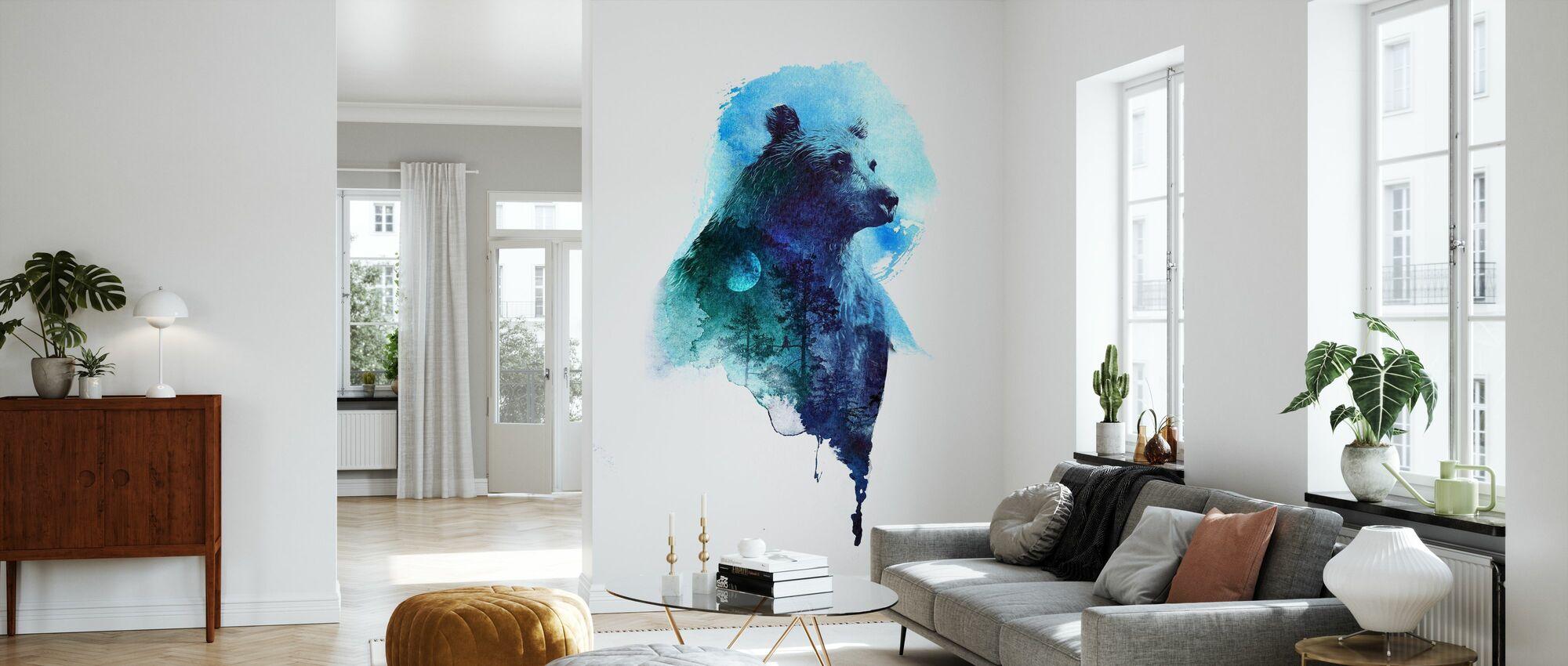 Midnight Bear - Wallpaper - Living Room
