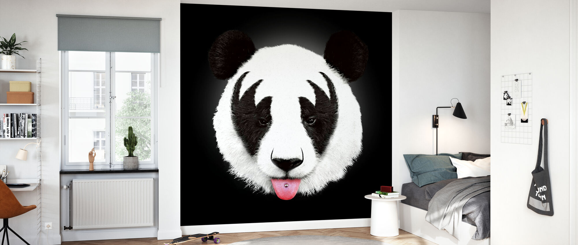 Kiss of a Panda - Wallpaper - Kids Room
