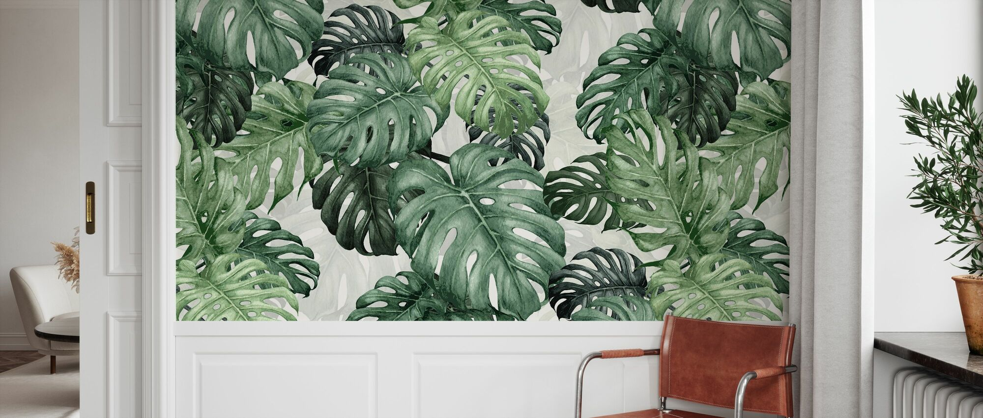 Botany Monstera - Wallpaper - Hallway