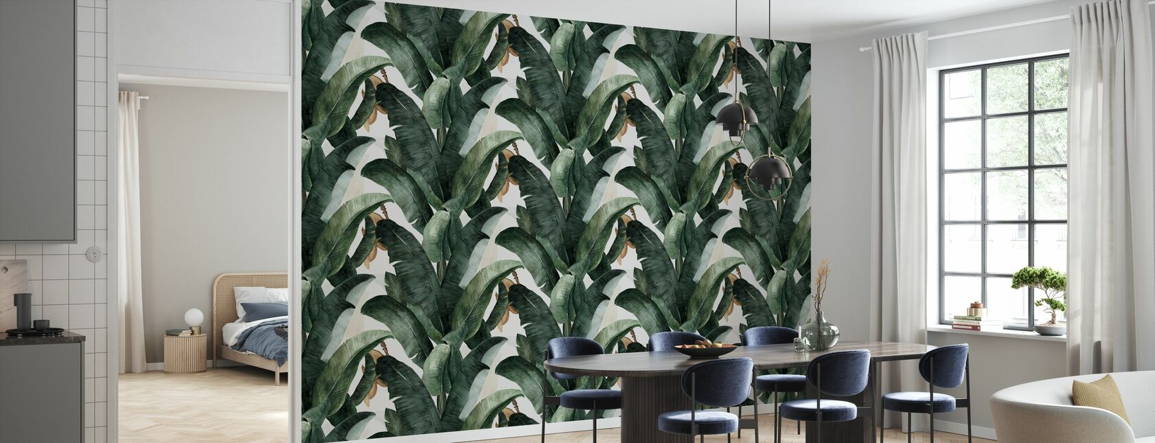 Botany Banana - Wallpaper - Kitchen