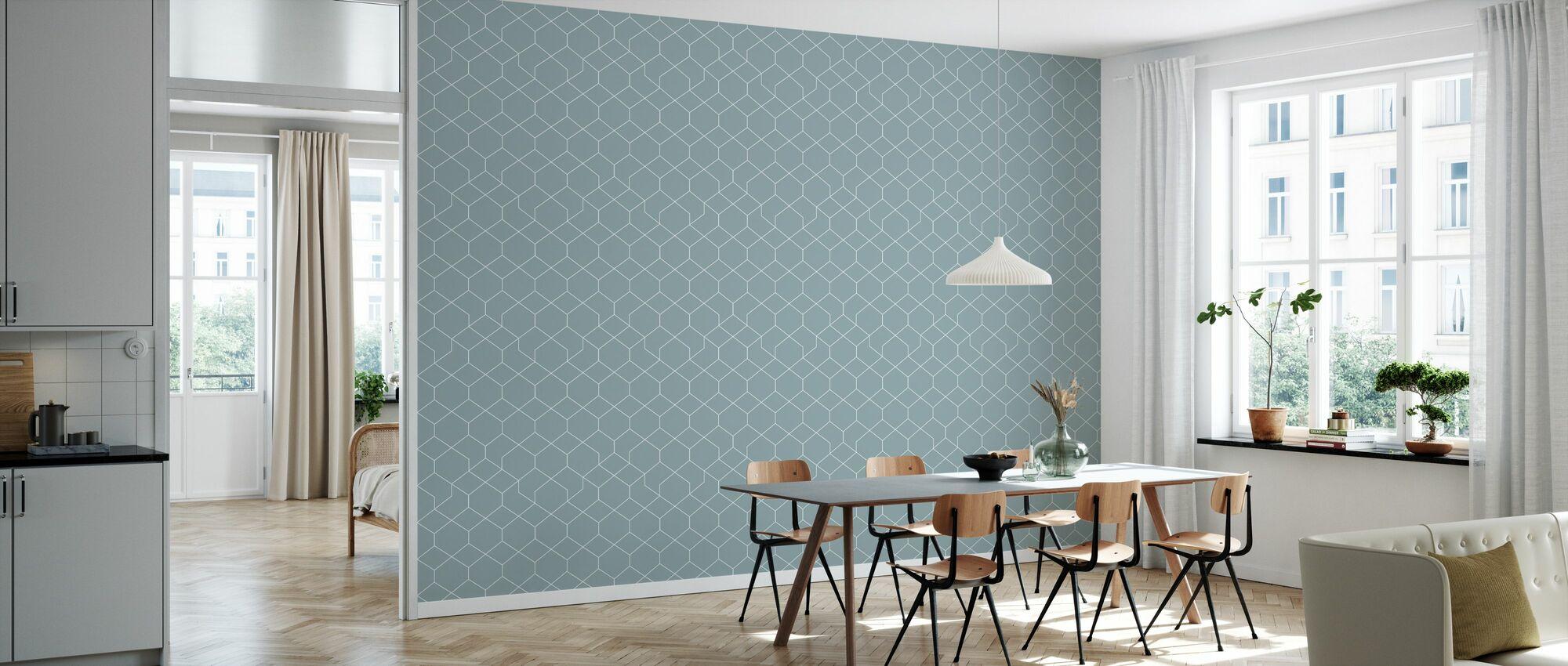 Honeycomb Blue - Wallpaper - Kitchen