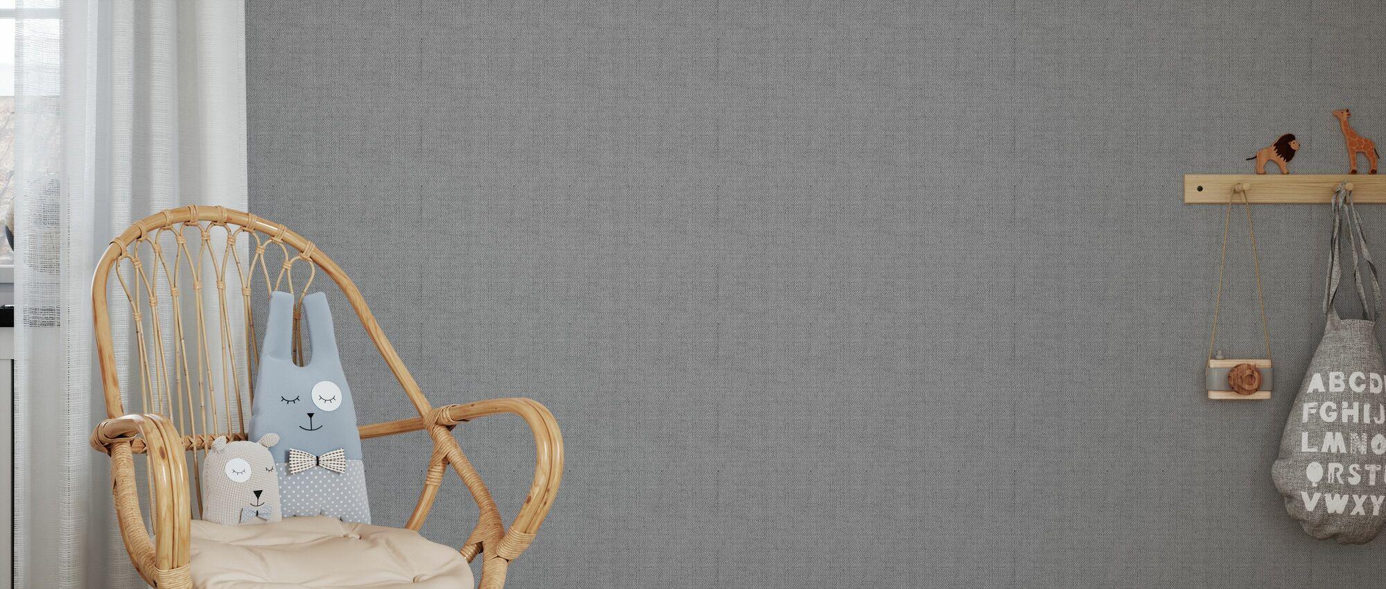 Linen Grey - Wallpaper - Kids Room