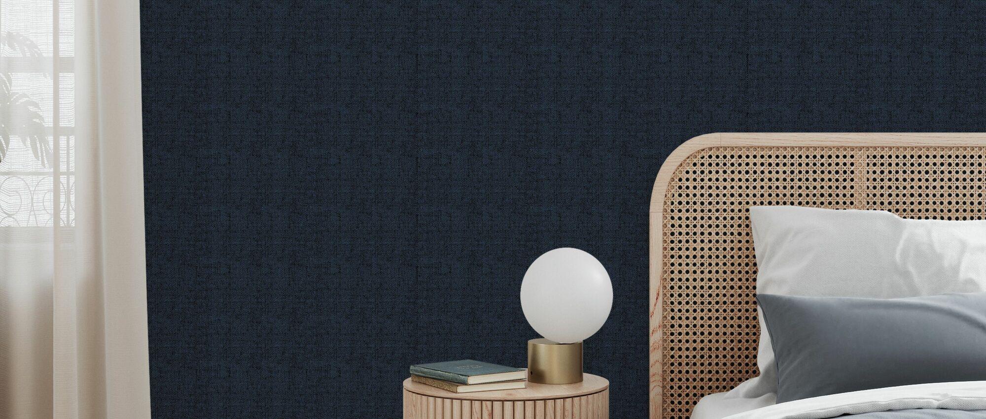 Linen Black - Wallpaper - Bedroom