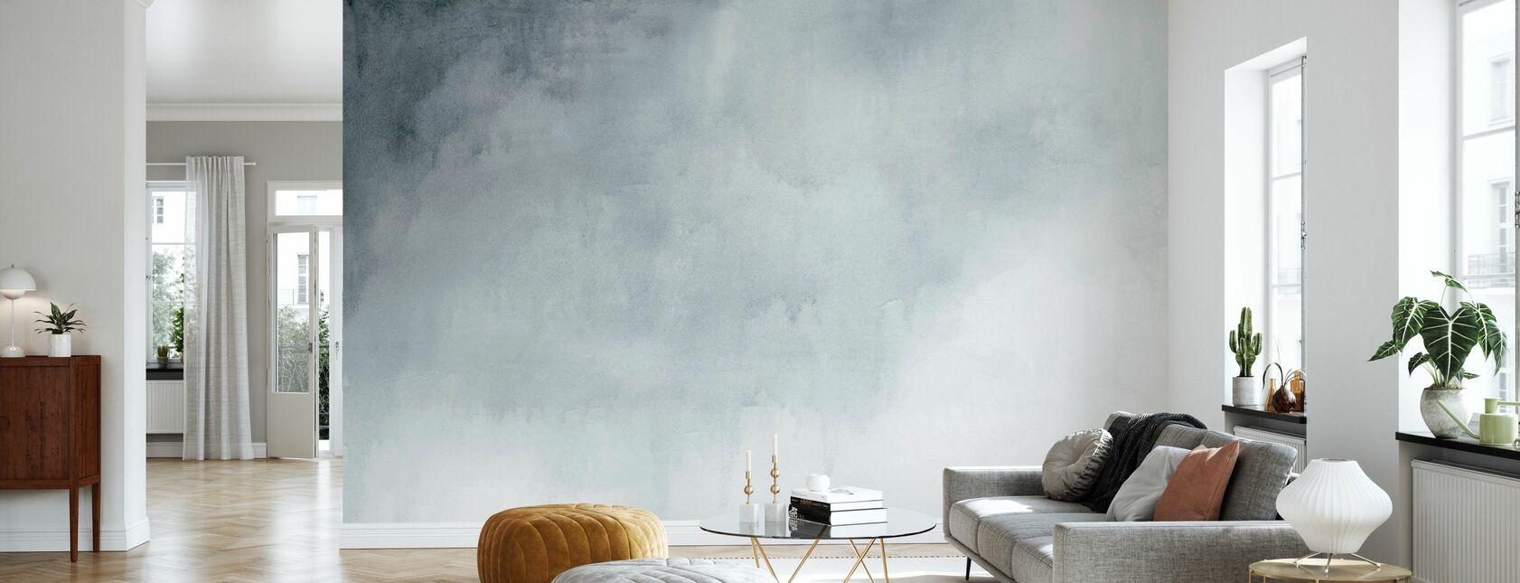 Aquarell Grau - Tapete - Wohnzimmer
