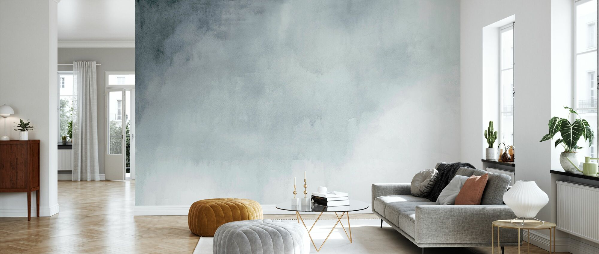Watercolour Grey - Wallpaper - Living Room