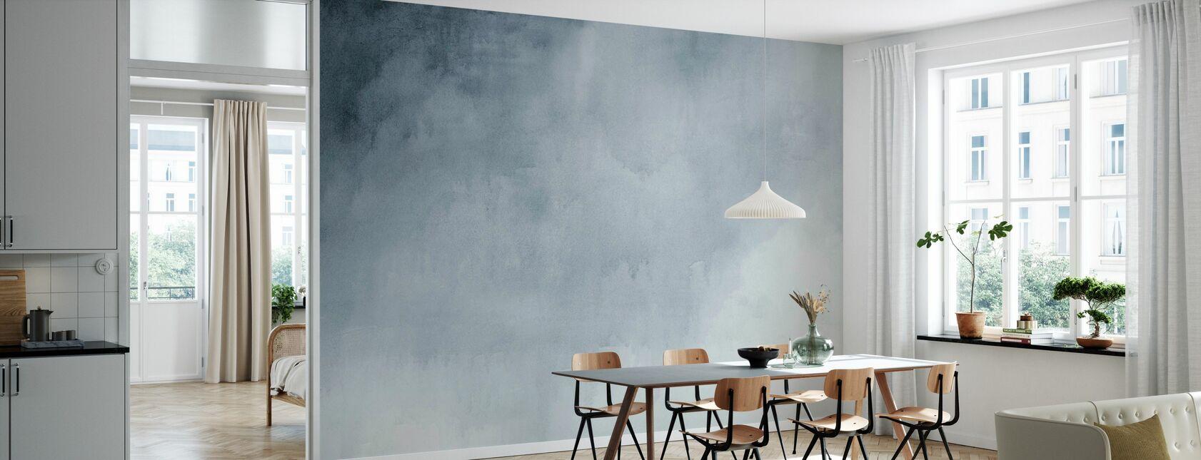 Watercolour Blue - Wallpaper - Kitchen
