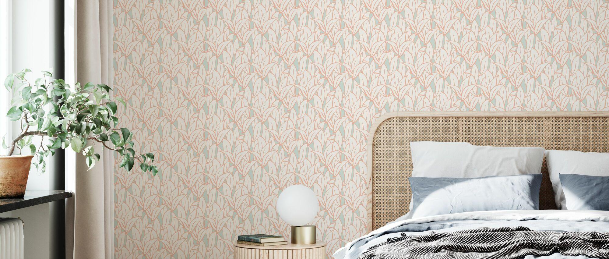 Meist Leafs Orange Dream - Tapete - Schlafzimmer