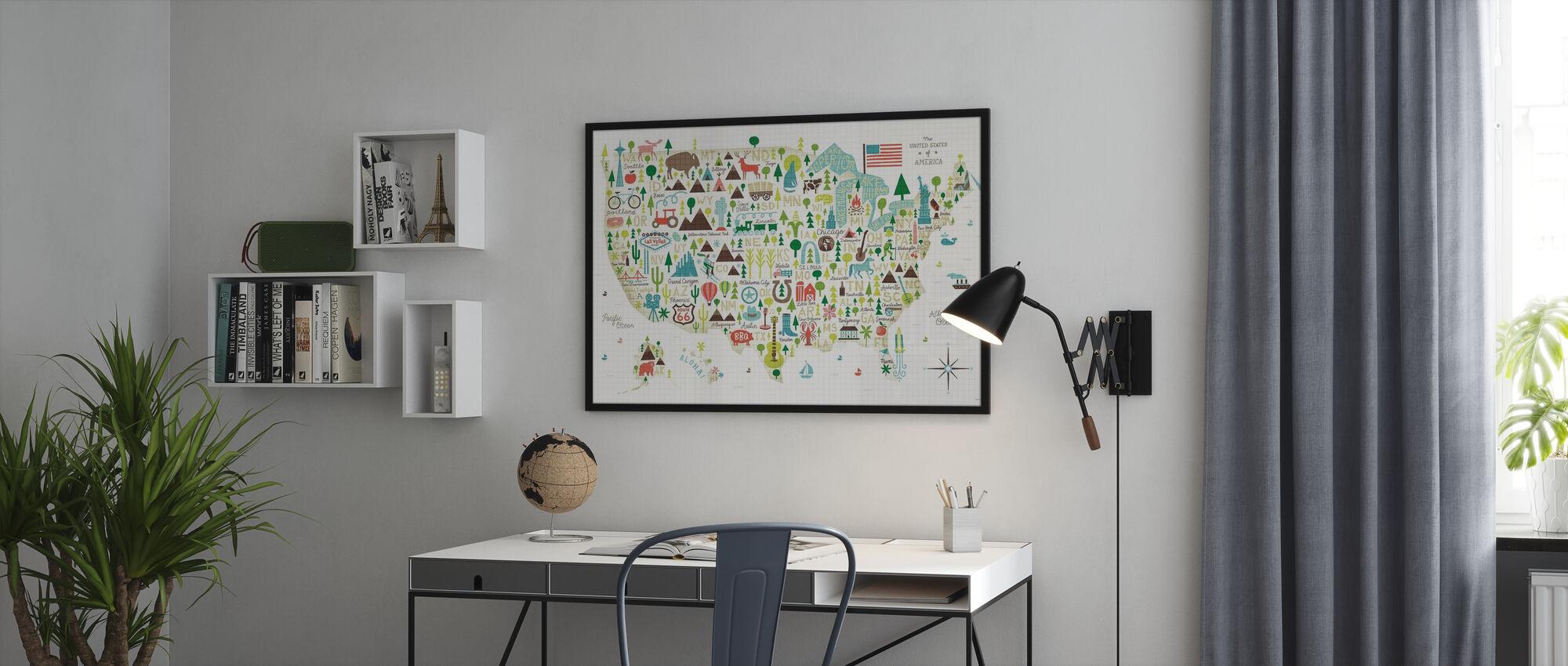 Geïllustreerde VS - Poster - Kantoor