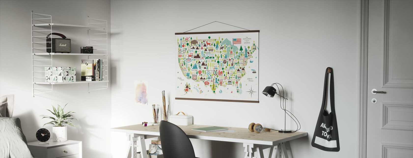 Illustrated USA - Poster - Office