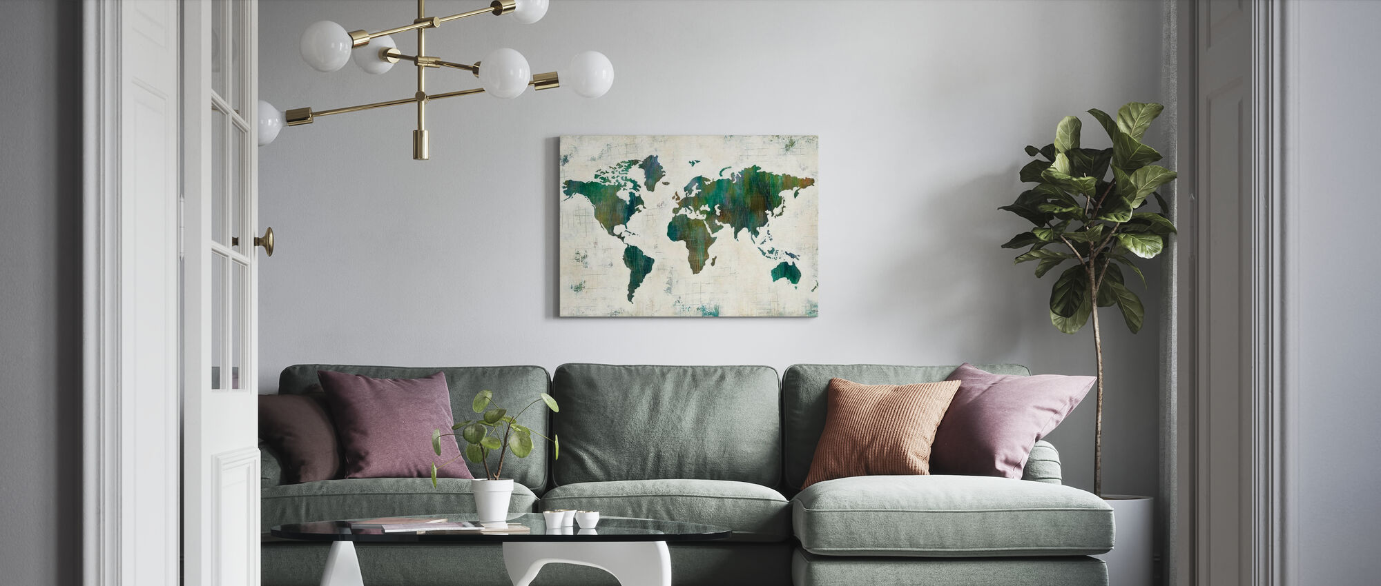 Discover the World - Canvas print - Living Room