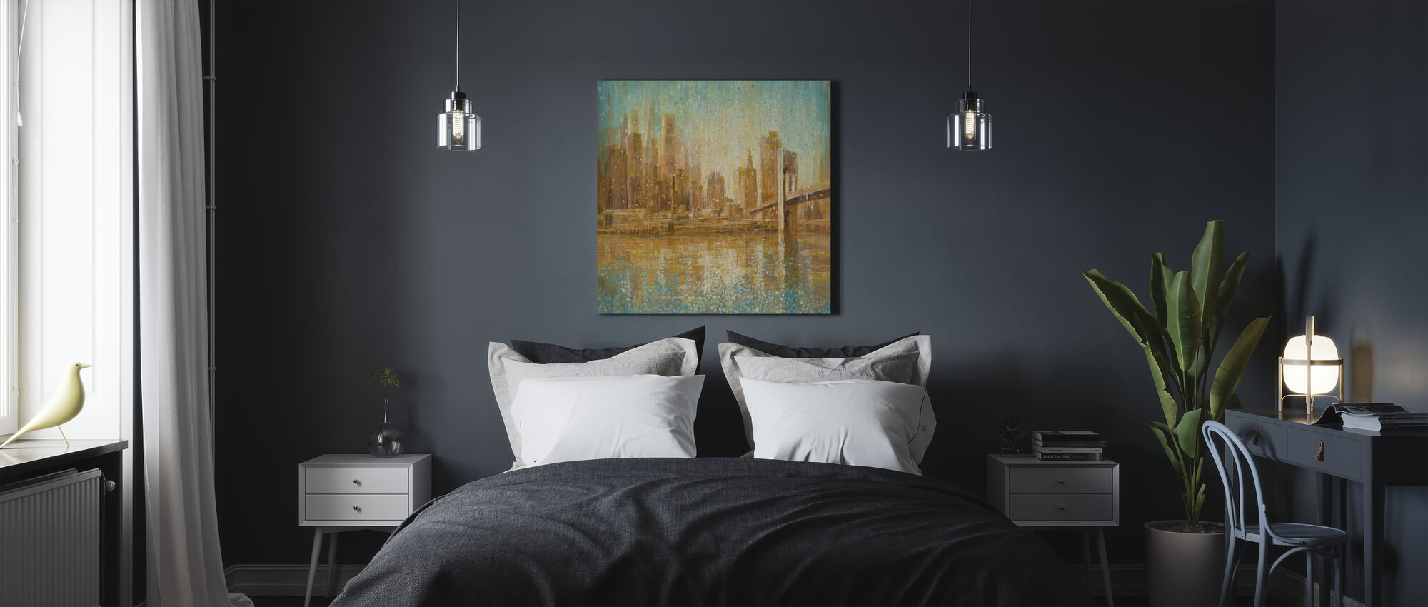 Champagne City - Canvas print - Bedroom
