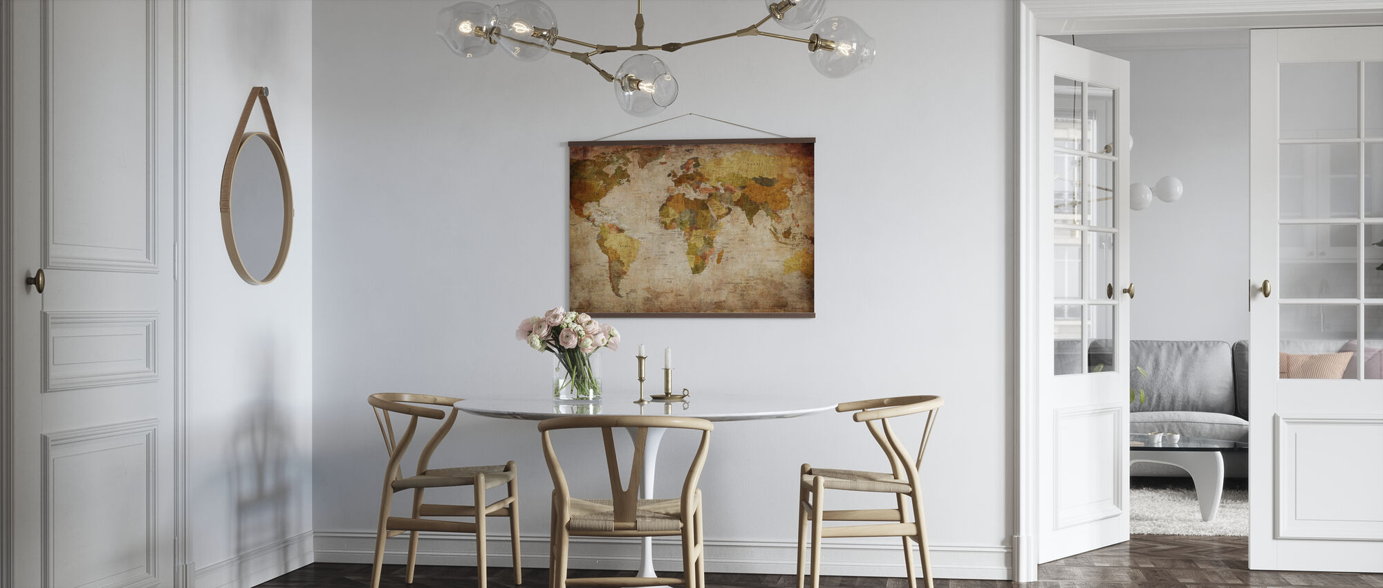 Old Vintage World Map - Poster - Kitchen