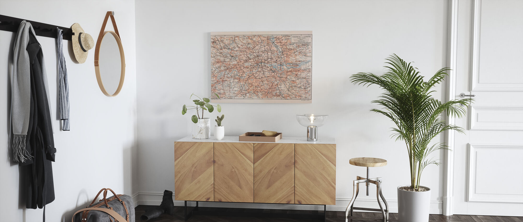 London Map - Canvas print - Hallway