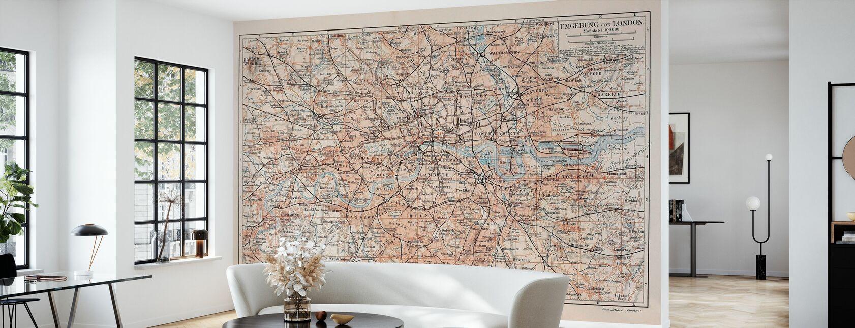 London Map - Wallpaper - Living Room