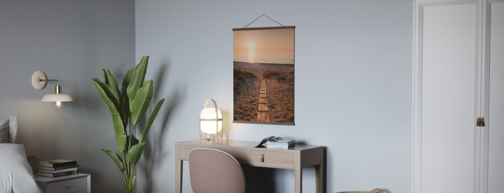 Sunset over Vejbystrand, Sweden - Poster - Office