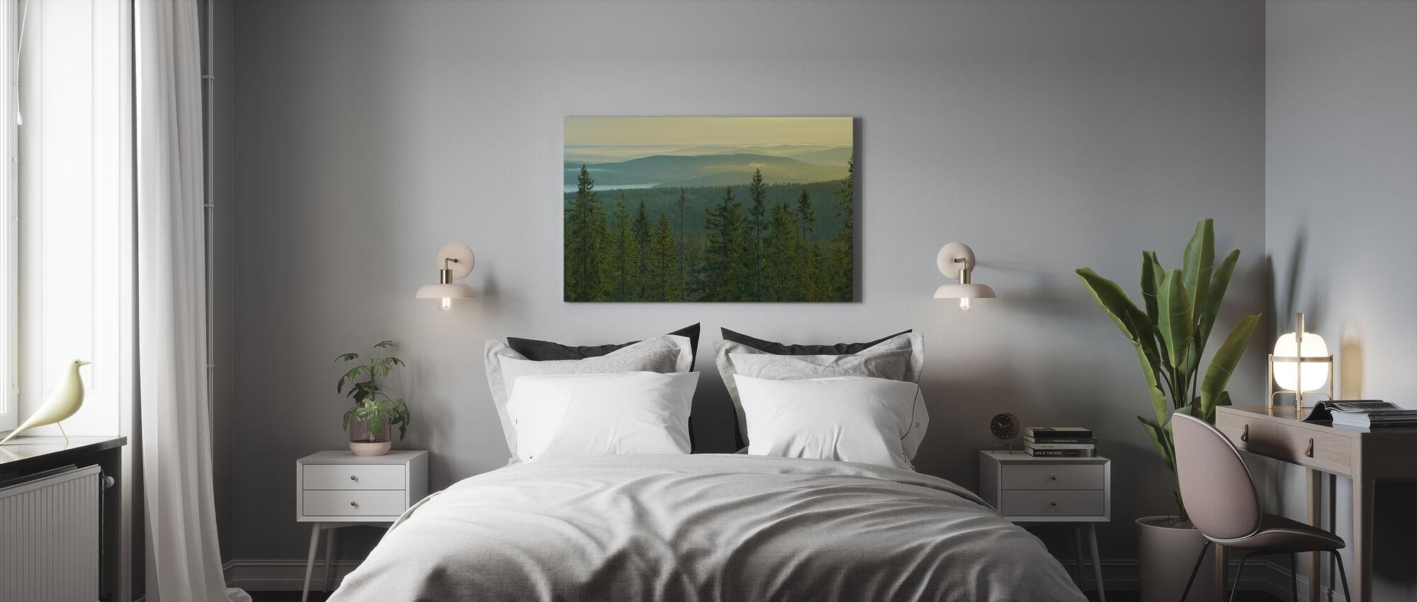 Sparren Topjes in Nationaal Park Skuleskogen, Zweden - Canvas print - Slaapkamer