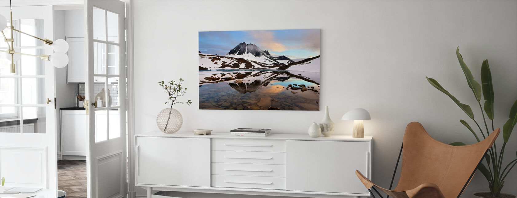 Lapland Glacial, Zweden - Canvas print - Woonkamer