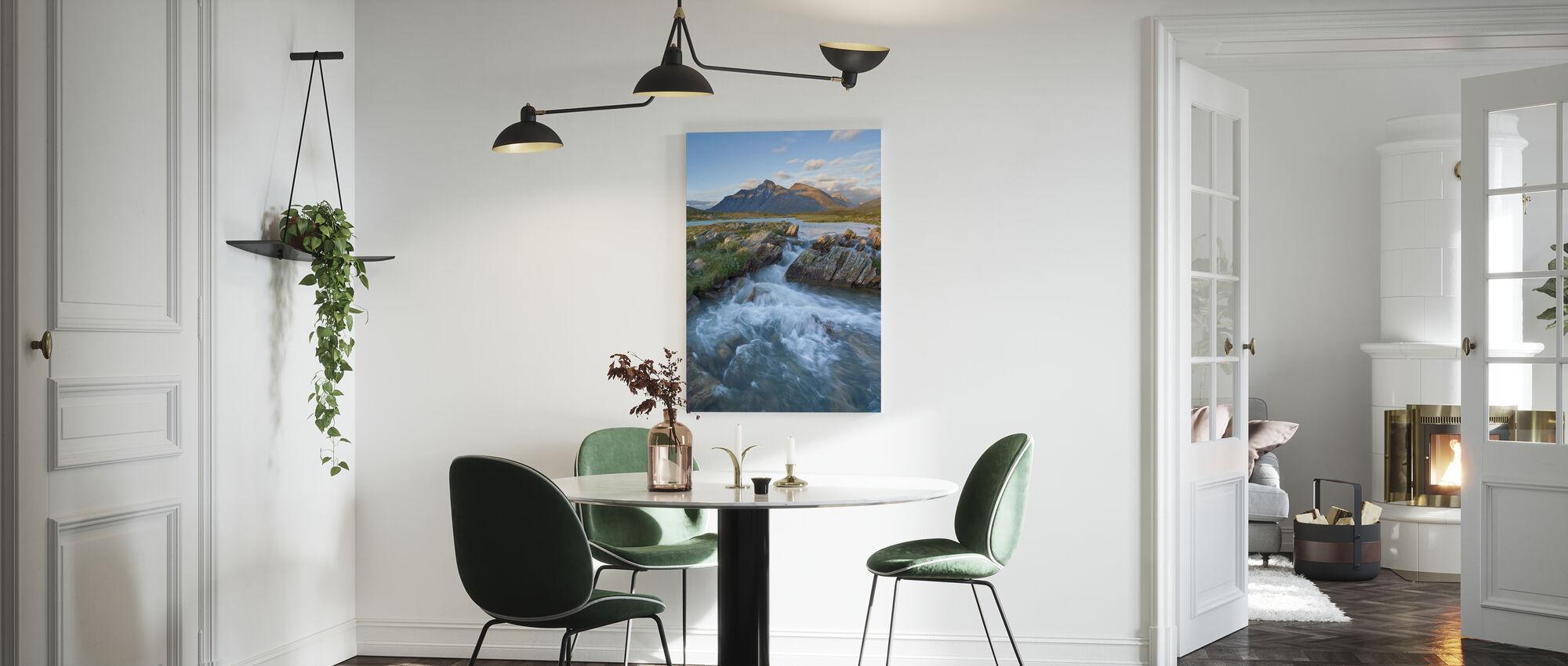 Stream in Sarek National Park, Sweden - Canvas print - Kitchen